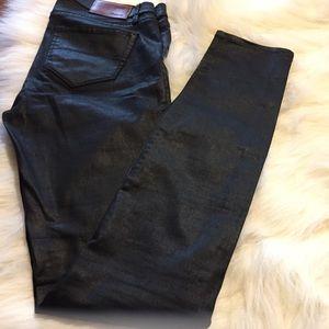 Madewell Black Coated Jeans